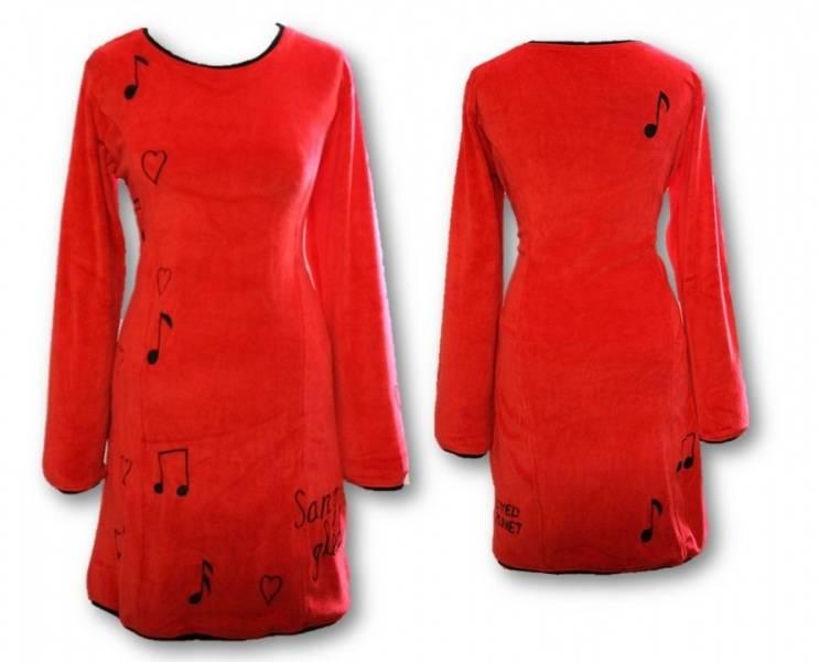 Sangglede kjole, Rød velour