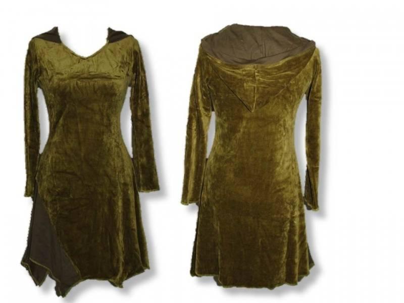 Tunika med hette, grønn